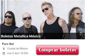 Boletos para Metallica México