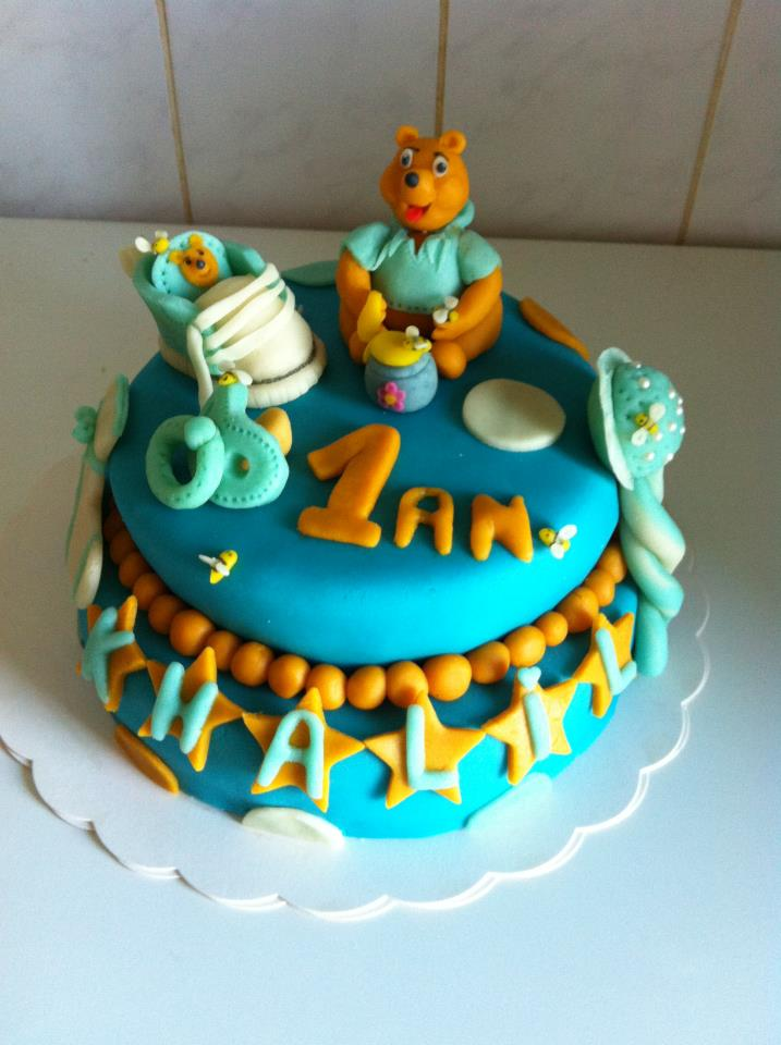 Cake Design Guadeloupe : Weeding Cake (pieces montee Americaine) Winnie l ourson