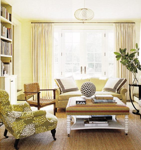 Cottage blue designs yellow rooms - Black white yellow living room ideas ...