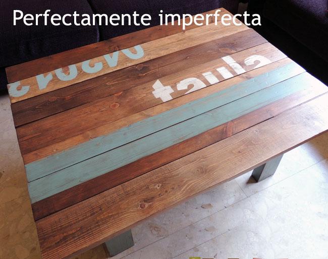 Diy la mesa de palets imperfecta de teresa - Mesa de palets bricolaje ...