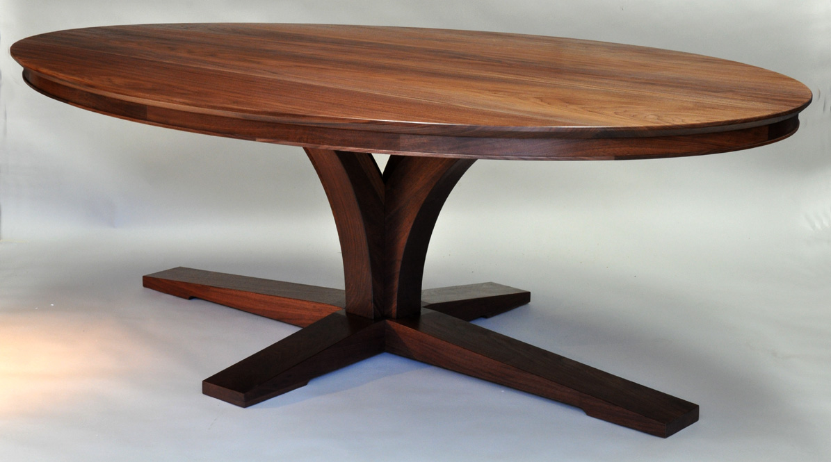 Walnut dining table best dining table ideas for Oval dining table