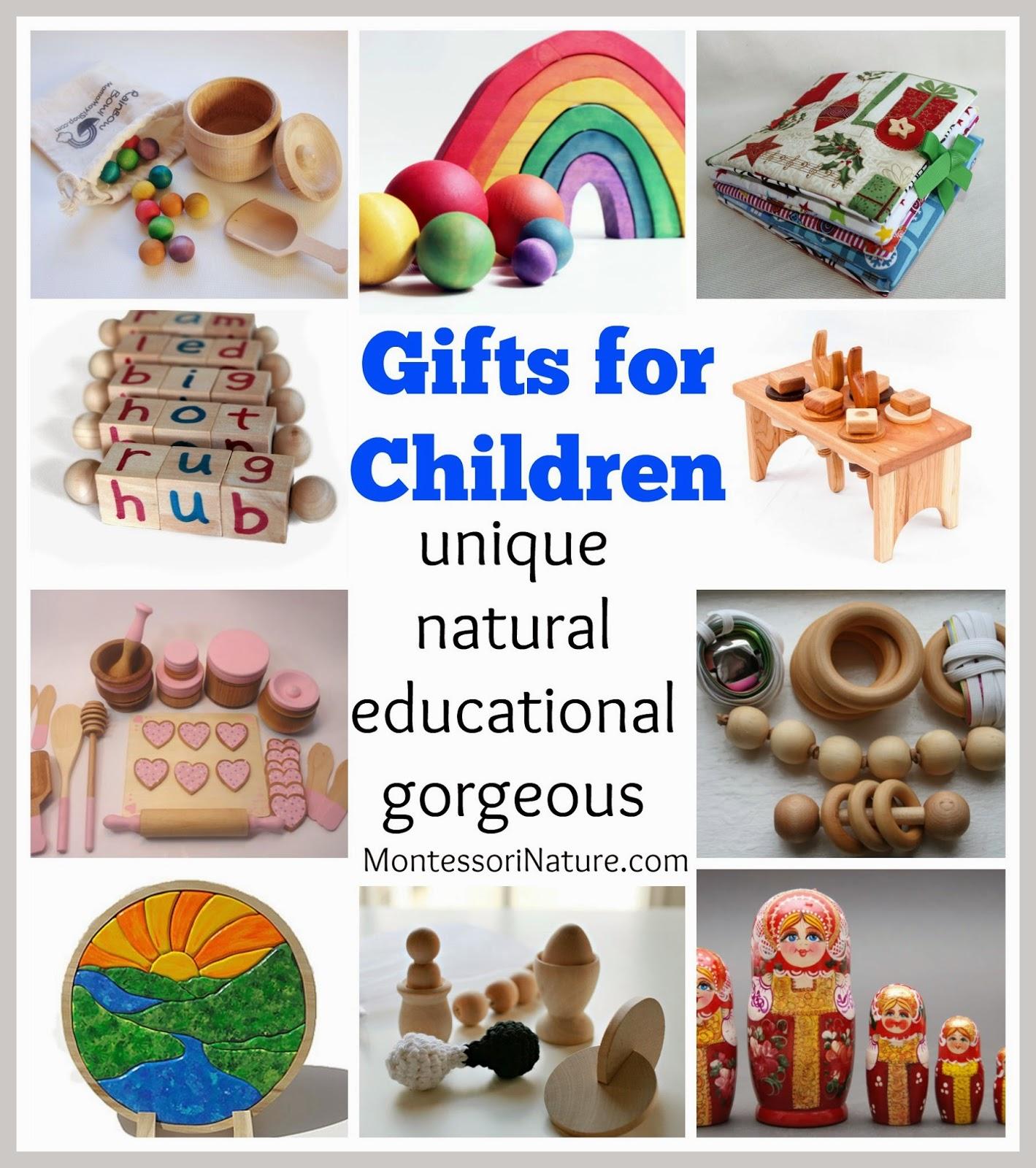 Unique Educational Toys : Gifts for children unique natural educational gorgeous