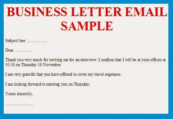 business letter email sample image