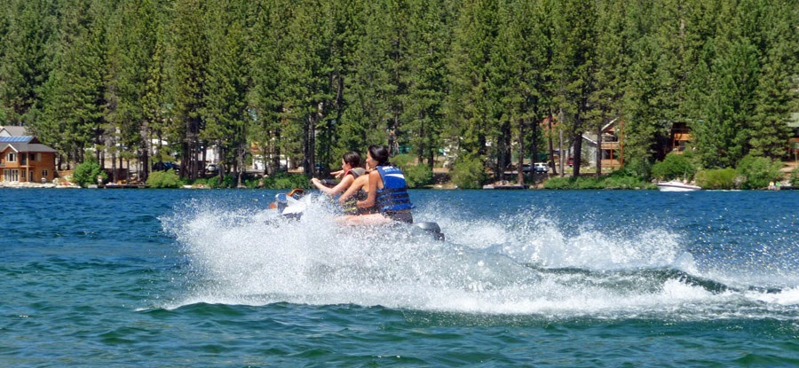 Near miss injures two on Donner Lake