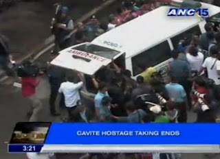 Bacoor, Cavite hostage taking photos are courtesy of ANC