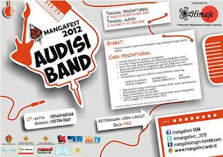 Audisi band mangafest