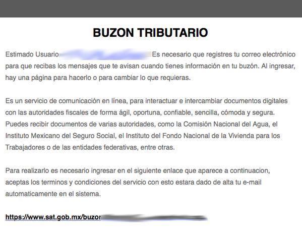 SAT México ¡Cuidado! Hemos detectado correos apócrifos desde las cuentas news@eliotchs.org y noauth