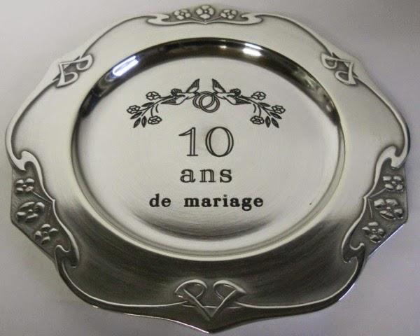 D j 10 ans nos noces d 39 etain - 3 ans de mariage noce de quoi ...