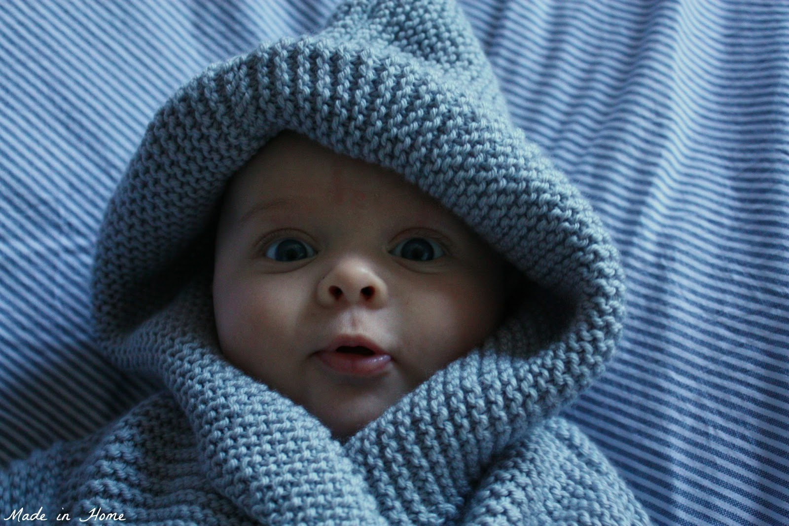 Made in Home: Blue-eyed boy {knitting}