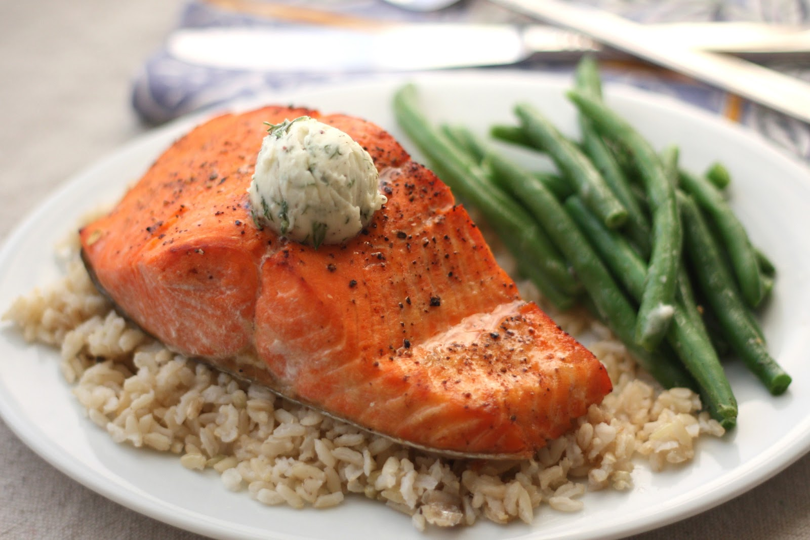 roasted salmon with lemon rosemary butter sauce recipe key butter food ...