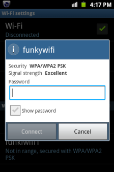 Android WiFi wap2 Password