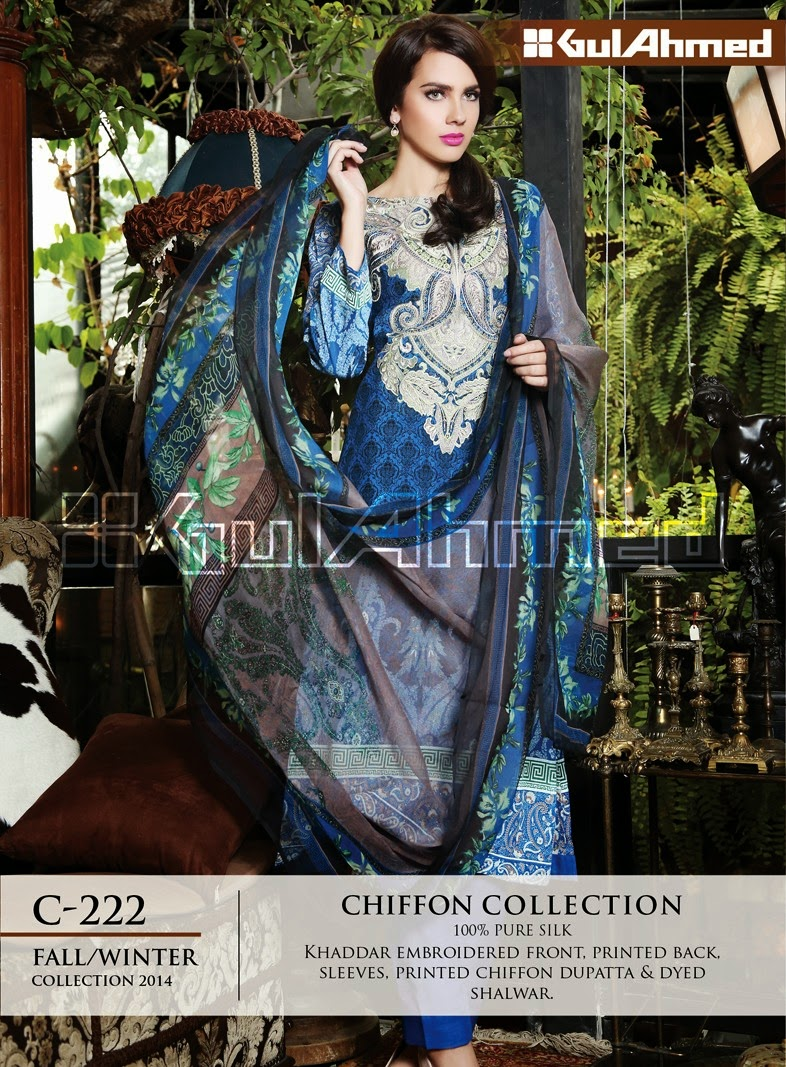 GulAhmed's New Premium Chiffon Collection 2014 For Women