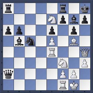 Une combinaison avec un coup de repos aux échecs