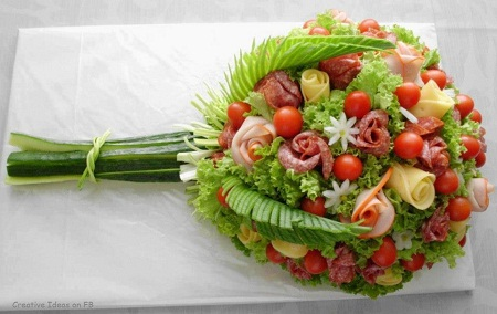 MuyVariadocom Ensaladas Originales Ramo de Flores con Vegetales