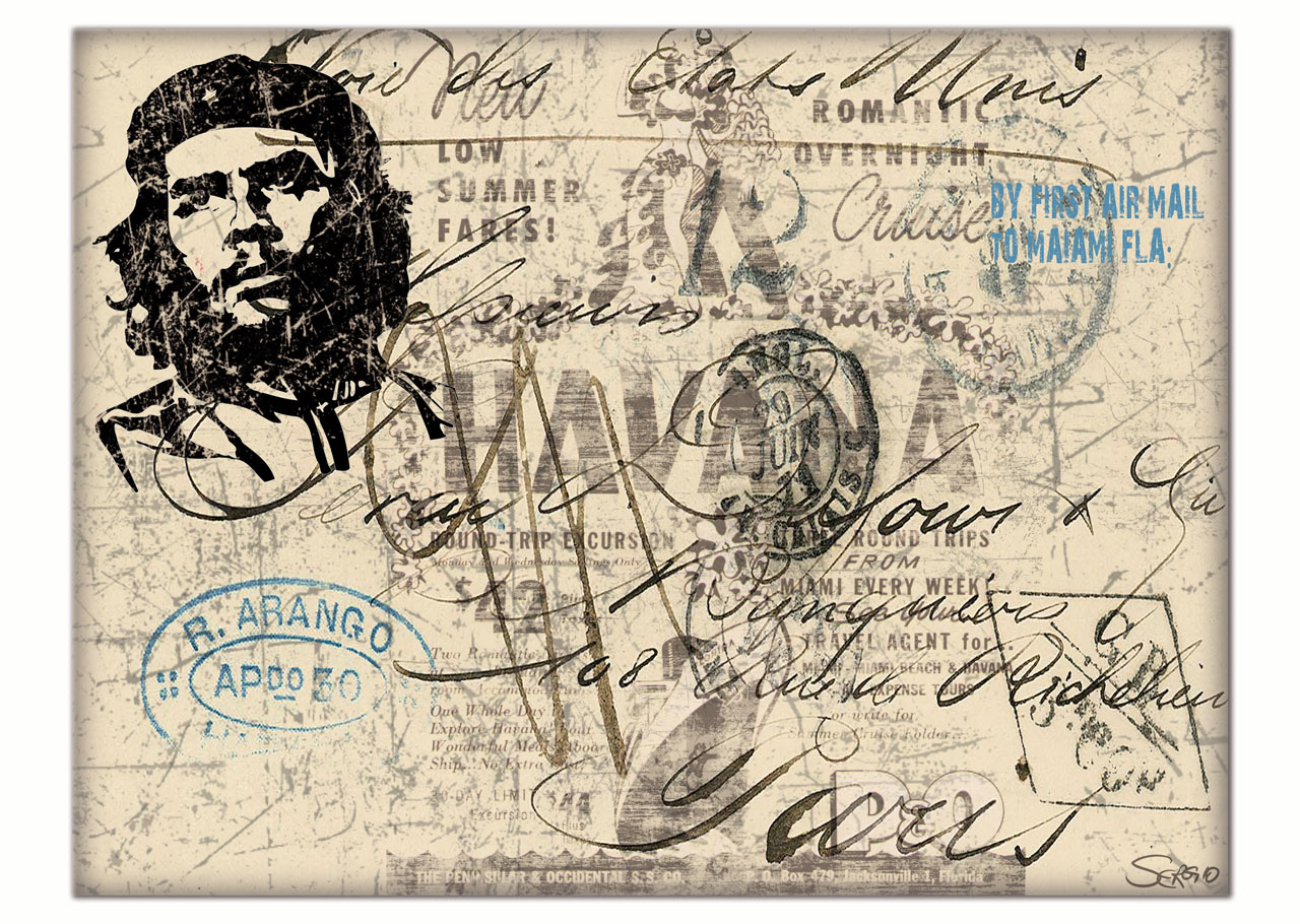 Motiv: Kuba   Che Guevara   Havana Collage