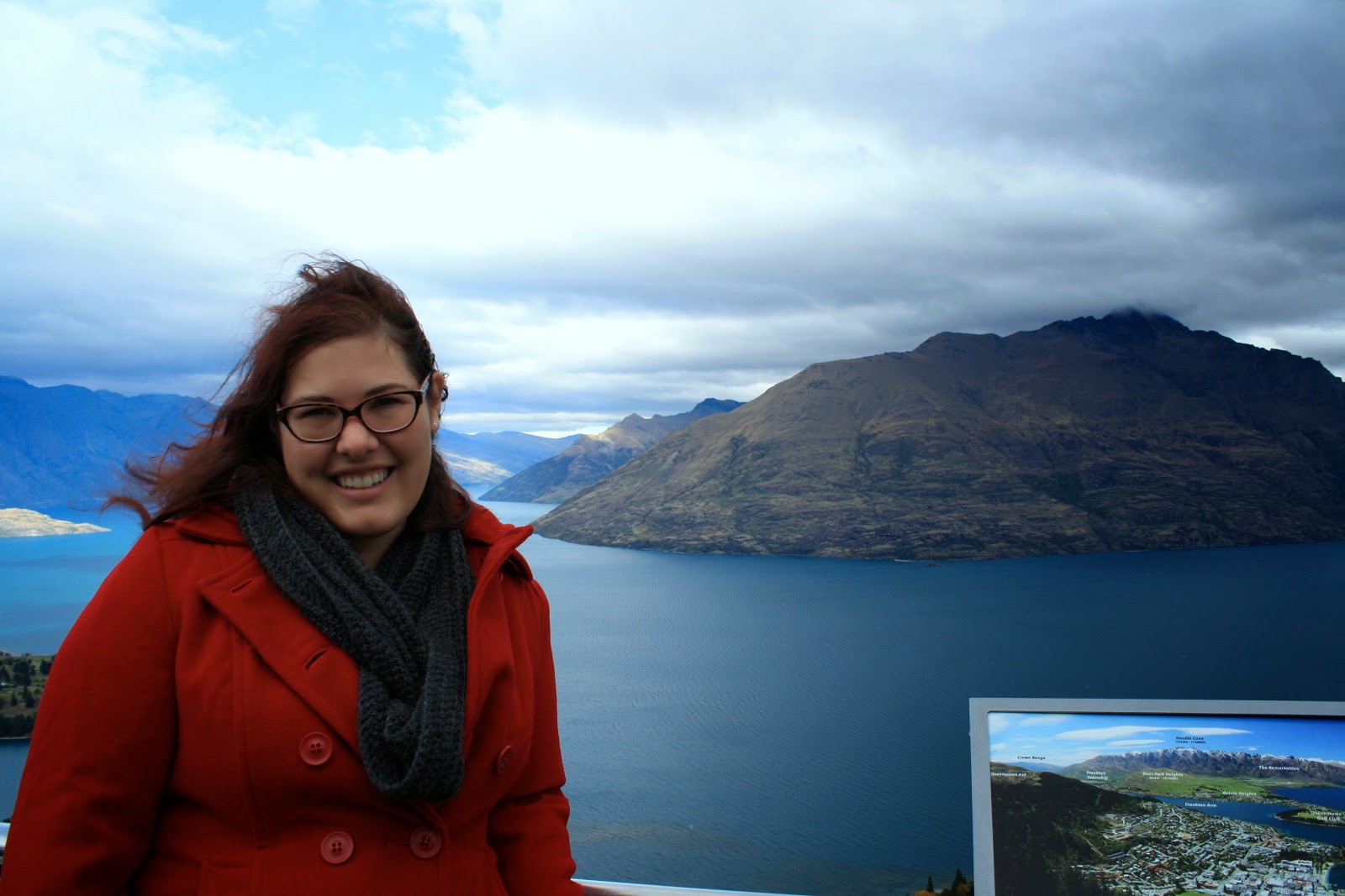 Me posing at the top of the gondolas, Queenstown.