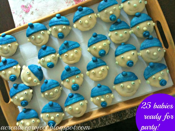 baby shower cakes, baby boy cupcakes