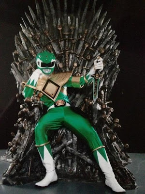 Power Ranger verde trono de hierro - Juego de Tronos en los siete reinos