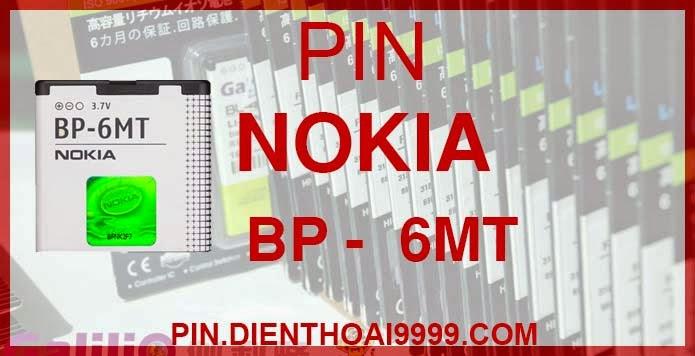 Pin Nokia BP-6MT  - Pin bp 6mt chính hãng giá 170.000 - Pin bp 6mt dung lượng cao 1300mAh giá 130K - Bảo hành: 6 tháng  - Pin tương thích với điện thoại Nokia  6720C/ E51/ N81/ N82/ N82 8G  Thông số kĩ thuật: - Pin BP 6MT được thiết kế kiểu dáng và kích thước y như pin nguyên bản theo máy, Pin tiêu chuẩn, chất lượng như pin theo máy. - Kích thước: 40 mm x 41 mm x 6.5 mm - Dung lượng: 1300 mah - Điện thế: 3.7V - Công nghệ: Pin Li-ion Battery  Mô tả sản phẩm: - Pin Galilio nhờ nghiên cứu và phát triển công nghệ lithium nên đã đạt được pin dung lượng cao nhất cho phép (từ 1,5- 2 lần) nhưng vẫn đảm bảo được chất lượng cao, đã vượt qua nhiều tiêu chuẩn chất lượng như ISO 9001, ISO 1400I, CERTIFICATED, hãng cũng ứng dụng Công Nghệ an toàn mà những hãng pin khác không có được: Controller IC, Control swithches, Temperature Fuse.. - Thiết kế kiểu dáng và kích thước y như pin nguyên bản theo máy, thuận tiện và dễ dàng thao tác, pin dung lượng cao cung cấp đủ nguồn điện cho máy sử dụng được trong thời gian dài, có thể mang đi bất cứ đâu để phòng khi pin của máy bạn hết mà không có điều kiện để sạc. - Cho phép bạn giữ các cuộc nói chuyện và bảo đảm cho bạn không bỏ lỡ các cuộc gọi điện thoại quan trọng - Pin sạc bằng cách gắn vào điện thoại và sạc như pin gốc - Sản phẩm đạt tiêu chuẩn tuyệt đối về an toàn cháy nổ - Bảo hành đổi pin mới trong 6 tháng.  GIAO HÀNG VÀ BẢO HÀNH TẬN NHÀ  Quý khách có nhu cầu mua pin,  hãy liên hệ với chúng tôi:  0904.691.851 - 0976.997.907  Website: http://pin.dienthoai9999.com Mua số lượng lớn: 0942299241  - Hướng dẫn sử dụng, bảo quản pin: http://pin.dienthoai9999.com/p/huong-dan-su-dung-pin - Quy định bảo hành: http://pin.dienthoai9999.com/p/quy-dinh-bao-hanh-pin - Khách hàng góp ý: http://pin.dienthoai9999.com/p/khach-hang-gop-y