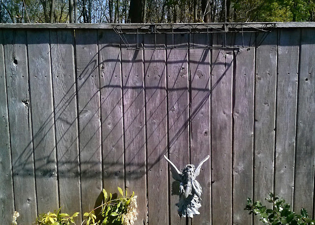 Fence, Shadow, Angel, angles, shadow shot