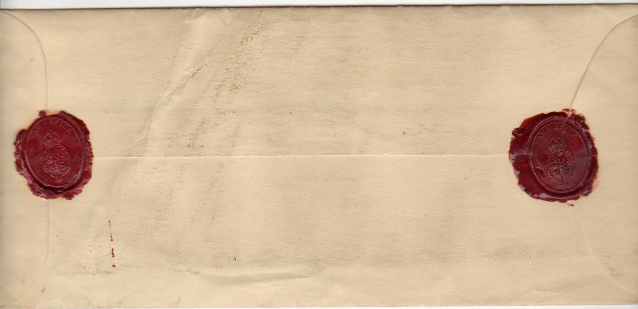Envelope that contained the final letter of Josef Jakobs (reverse).