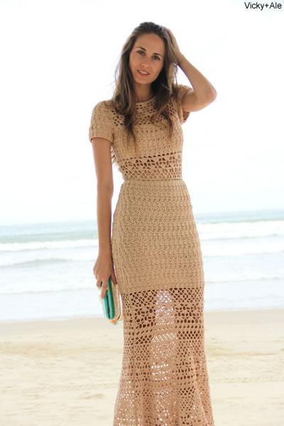 Muitas vezes Pequena fashionista: Roupas em croche XJ71