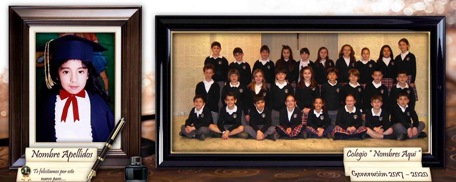 Marco para fotos de graduación - Plantillas para Photoshop 2014
