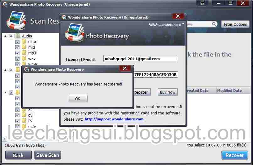serial key wondershare data recovery
