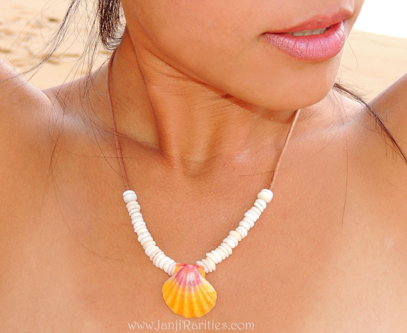 Sunrise Shell Necklace Sunrise Shell Jewelry
