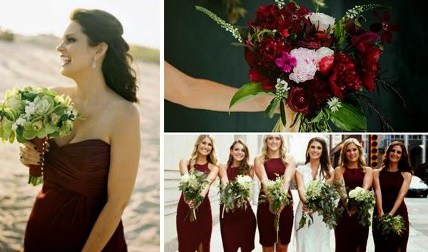 Marsala Pantone a cor do ano 2015 festas de casamentos noivas e madrinhas