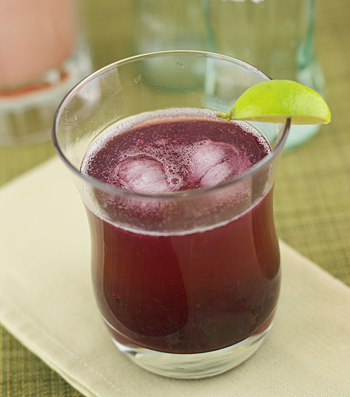 Homemade Strawberry and Blueberry Lime Soda ~ Heat Oven to 350