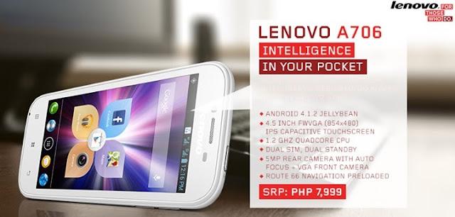 Lenovo A706 Philippines