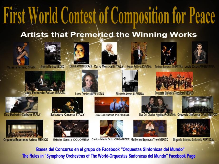 1ª Concurso de Composición por la Paz