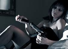 Secret agent girl with a gun