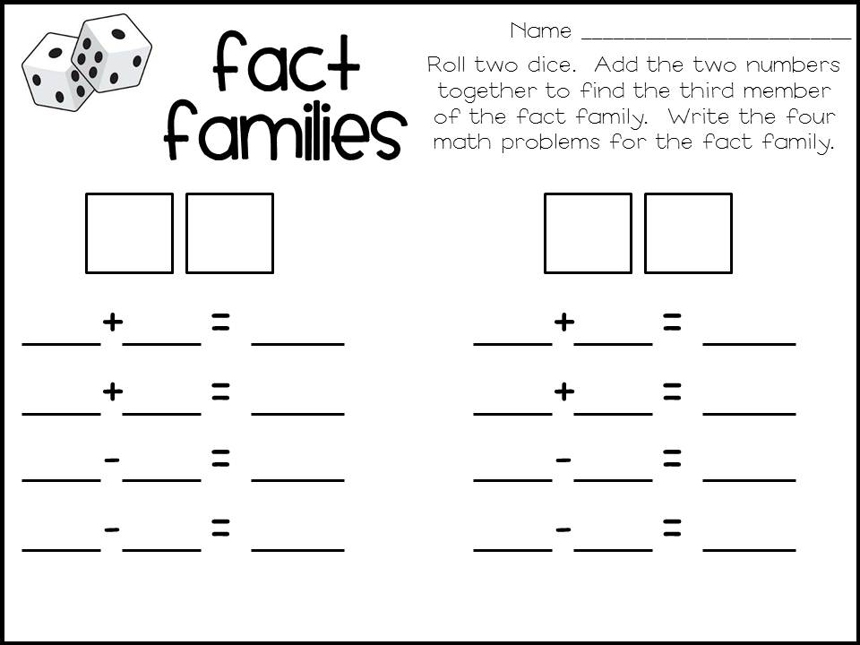 Fact Family Worksheets For Kindergartenhtml Division – Division Fact Family Worksheets