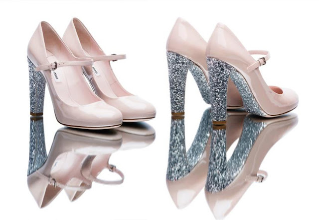 miu miu, glitter shoes, glitter soles