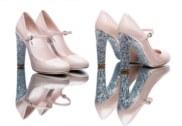 miu miu, glitter shoes, glitter soles