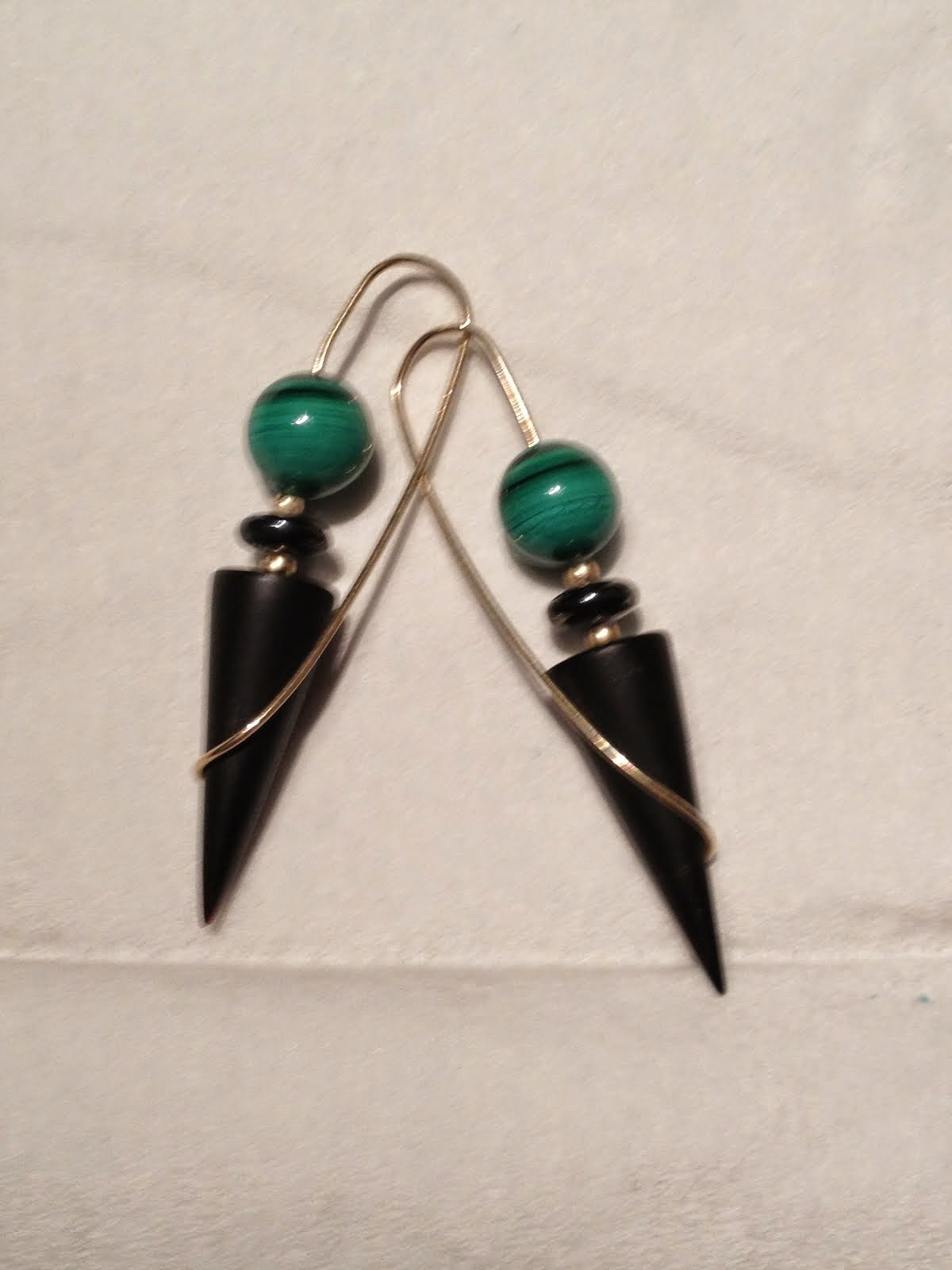 Onyx Ice Cream Cone with malachite $49.00