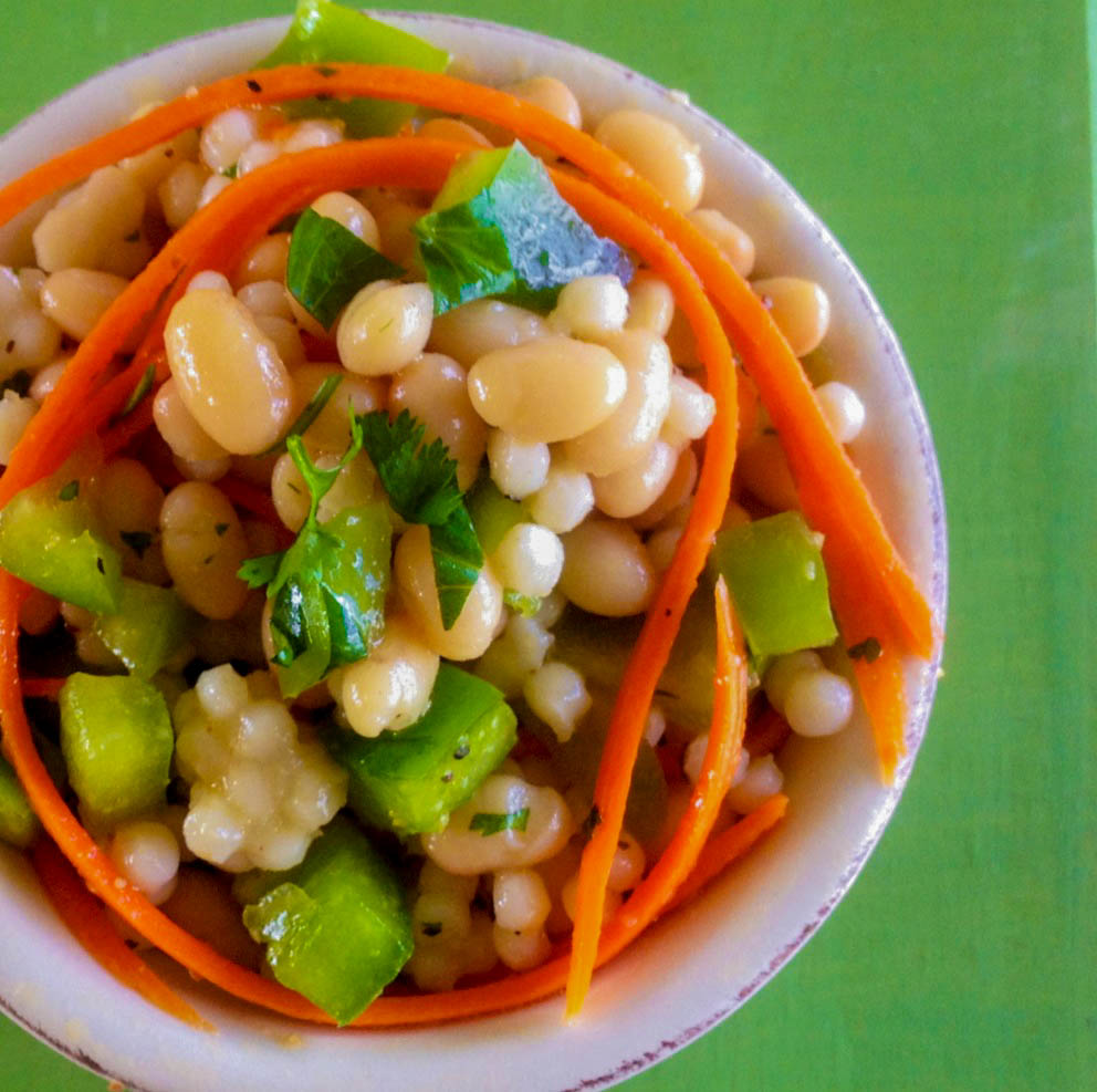 ... potatoes: Cilantro and White Bean Salad With Carrots & Green Peppers