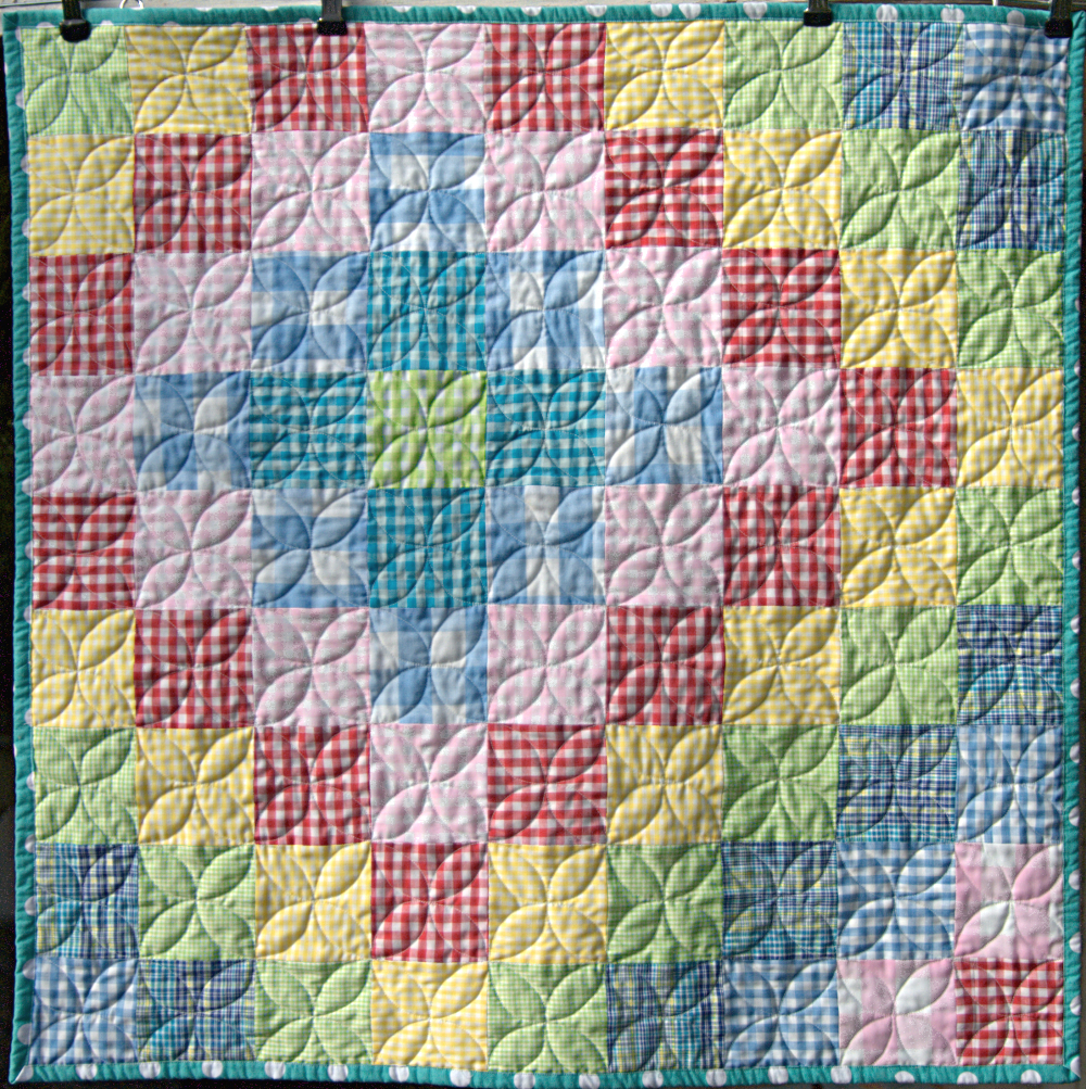 Pippin Sequim Gingham Baby Quilt