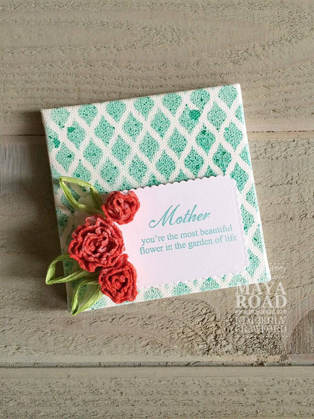 For The Love Of Paper Rolled Flower Canvas