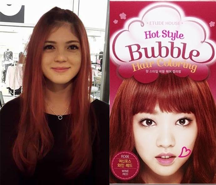 Lucid Doll Coloring My Hair With Etude House Bubble Hair Dye