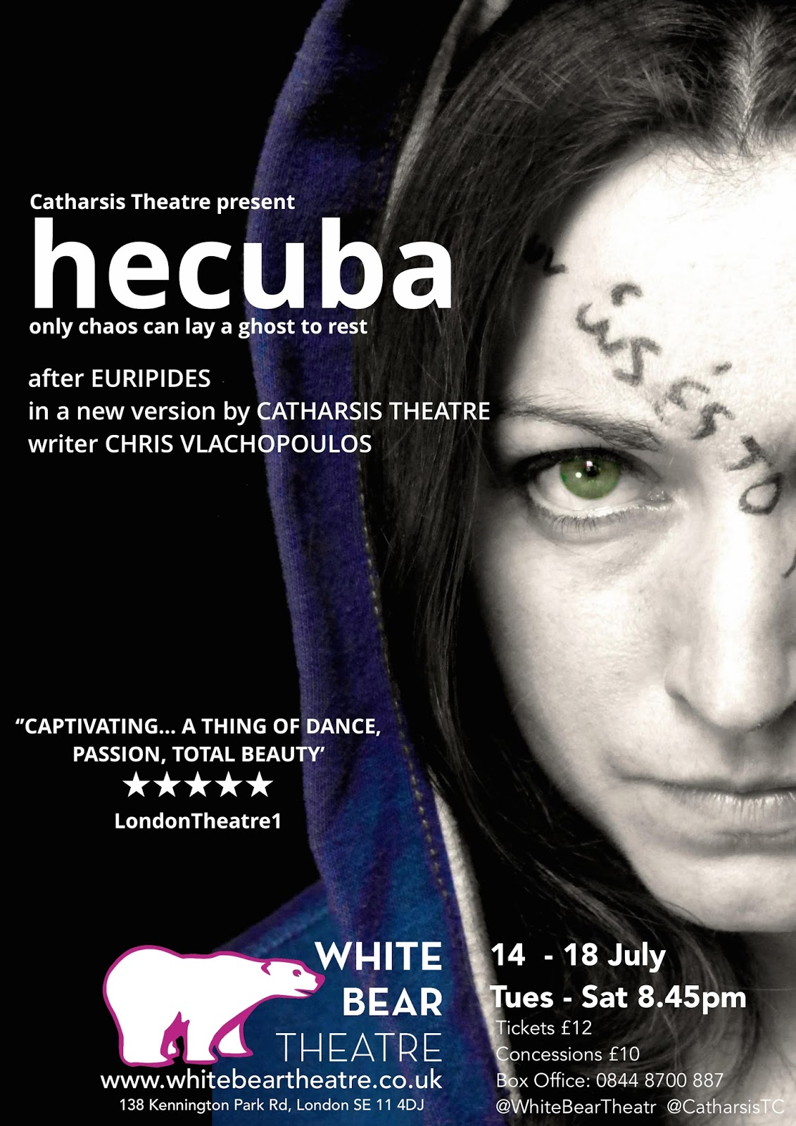 hecuba white bear theatre the gizzle review. Black Bedroom Furniture Sets. Home Design Ideas