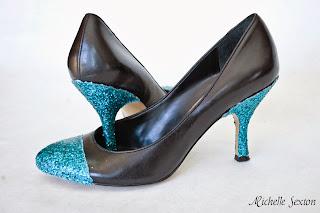 Glitter heels tutorial