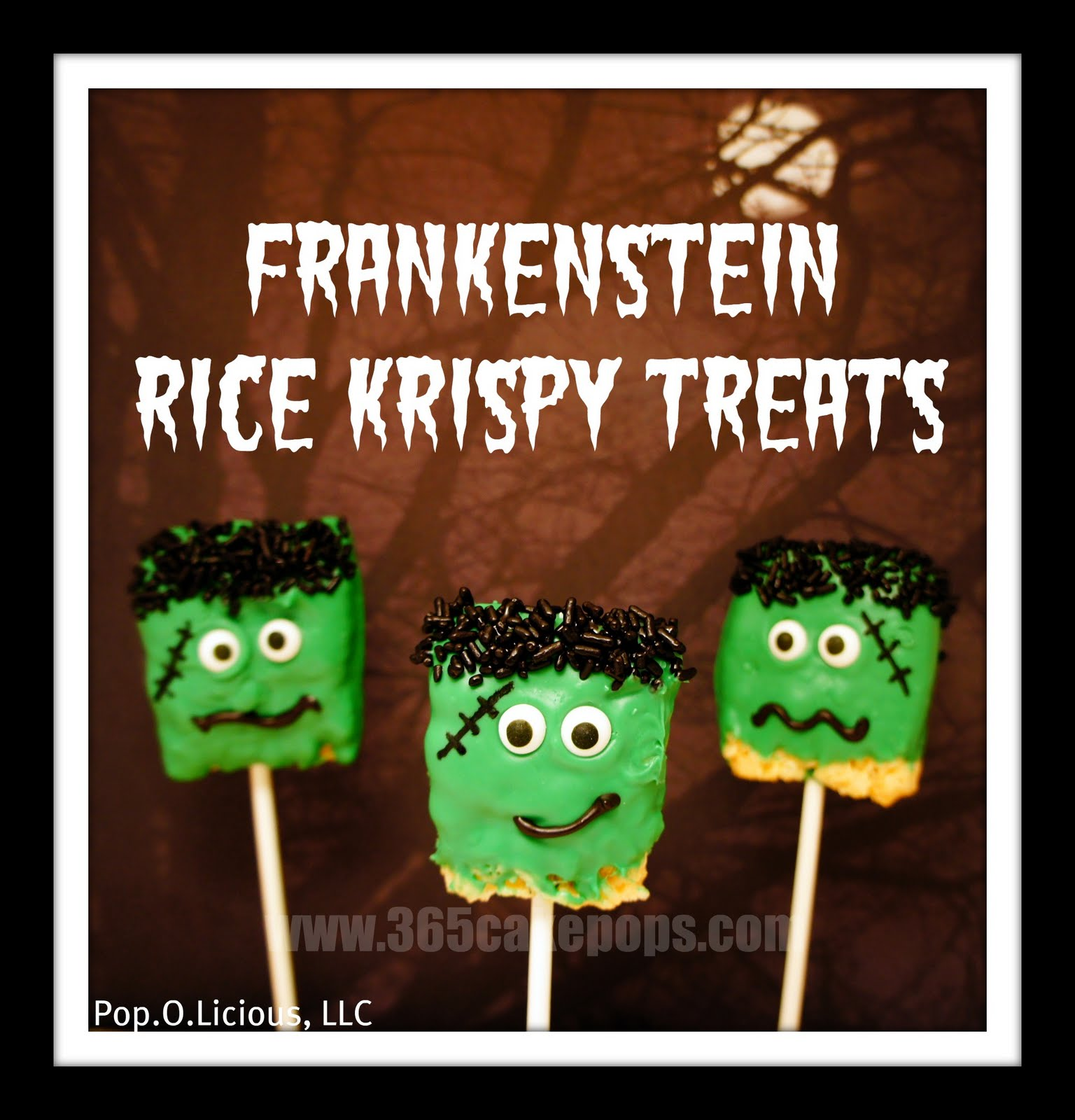 she made some frankenstein rice krispy pops take a look at how cute and scary she made her frankensteins look