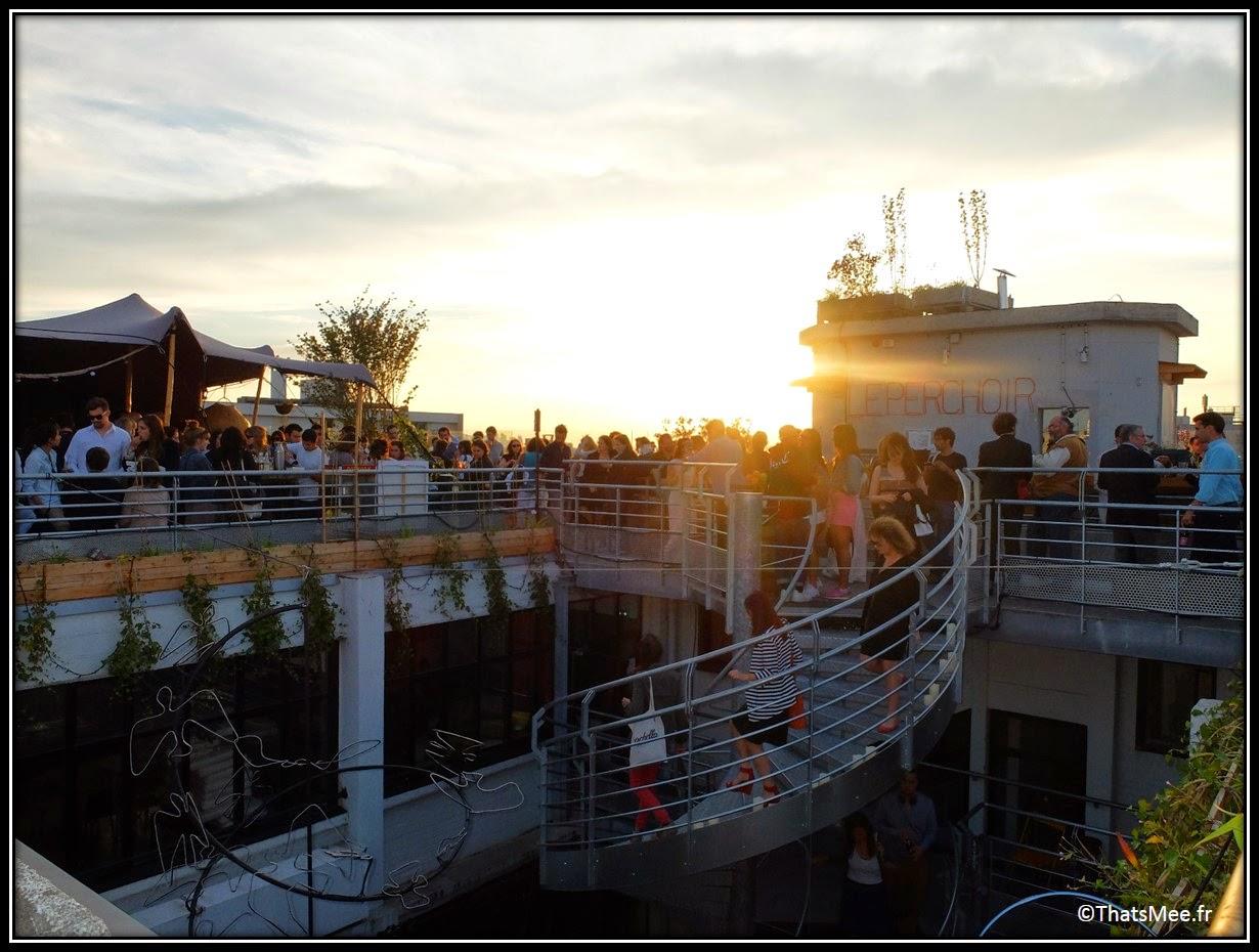 bar perchoir hipster rooftop Paris soleil couchant crépuscule vue, Perchoir cidres perchés soirée privee Paris 11eme