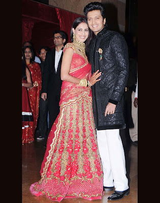 photos of riteish deshmukh and genelia dsouza's wedding reception pictures and images