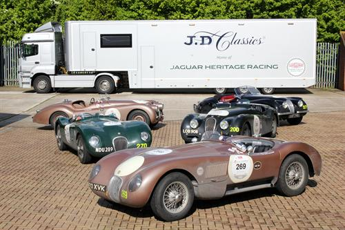 MILLE MIGLIA 2013  JD CLASSICS SUPPORTS FIVE JAGUAR HERITAGE