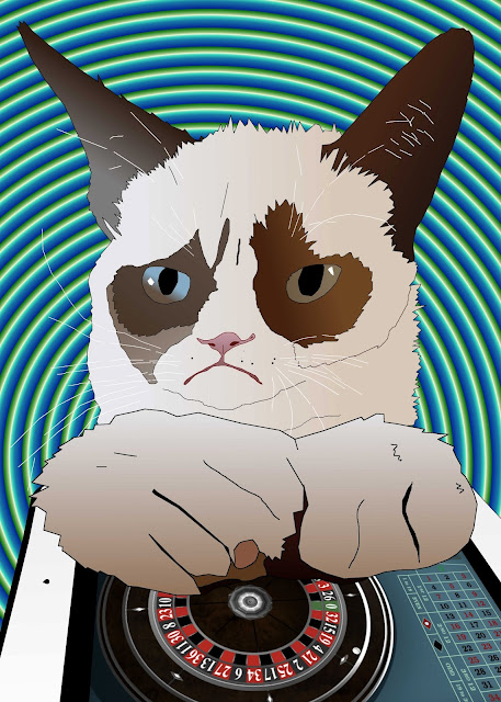 Grumpy Cat plays ipad mini game ipad roulette