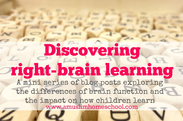 a mini series of blog posts exploring the differences between left and right brain  function and the impact that has on how children learn